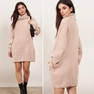 TOBI Cowl Does It Feel Turtleneck Sweater Dress
